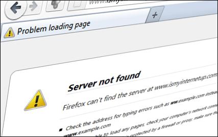 برطرف کردن مشکل Server Not Found