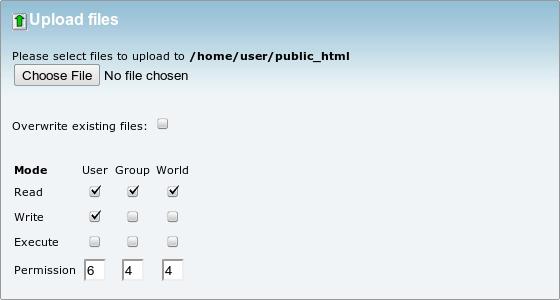 نحوه آپلود فایل توسط File Manager در cPanel
