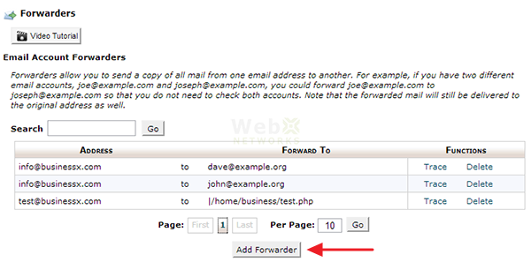 نحوه ایجاد Email Forwarder در سی پنل
