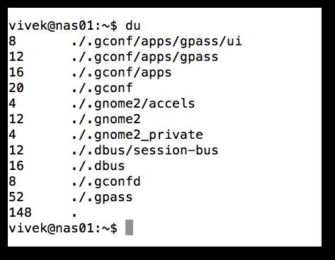 دستورات نمایش حجم پوشه و فایل در لینوکس