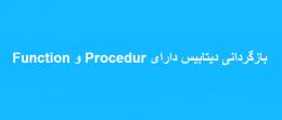 بازگردانی دیتابیس دارای Function و Procedur