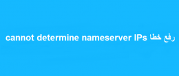 رفع خطا cannot determine nameserver IPs