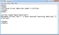 زبان اسکریپت VBScript