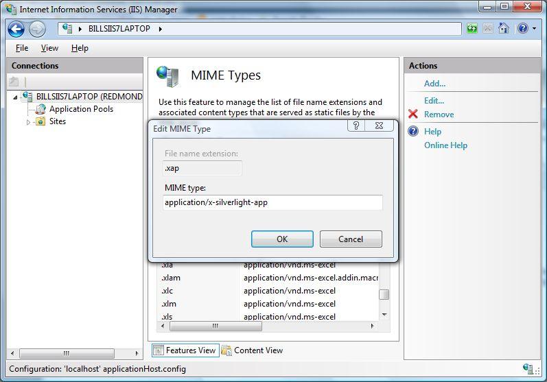 اضافه کردن Mime Type در IIS
