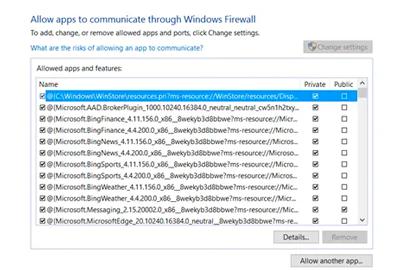 برنامه ها را از طریق فایروال ویندوز مسدود یا مجاز کنید