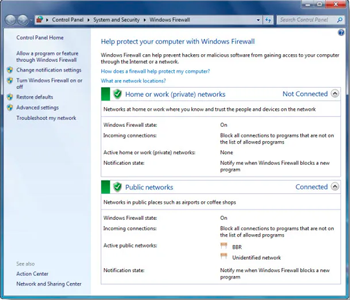 مدیریت فایروال ویندوز