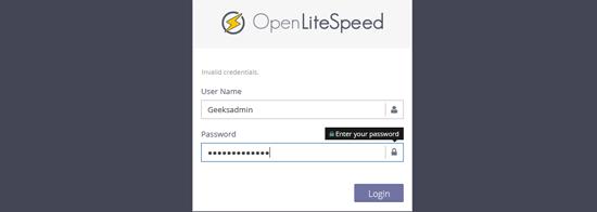 دسترسی به openlitespeed